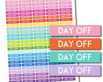Day off stickers, Day off planner stickers, Day off printable stickers, Day off weekly stickers, Day off monthly stickers, STI-726