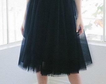 Black Tutu Tulle Skirt  Women Size Medium 8 Adult READY TO SHIP no Waiting