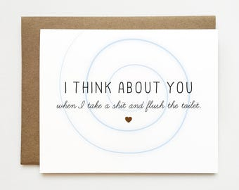 Card for ex I miss you not Unsympathy card Funny card for