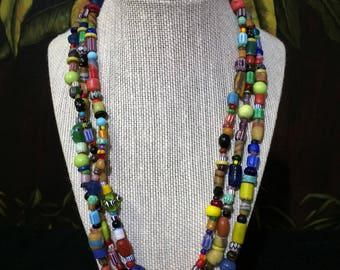 5 ft. Long African Trade - Christmas Beads loop, String. Free Shipping.