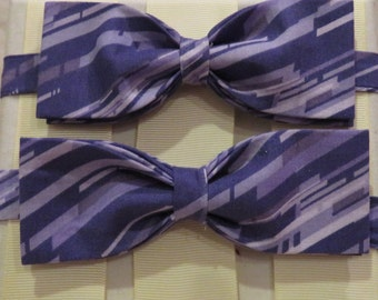 Purple Strike Bow Tie