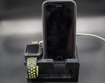 iPhone 6/6 Plus/7/7 Plus Dock and Apple Watch Charging Dock 3D Printed