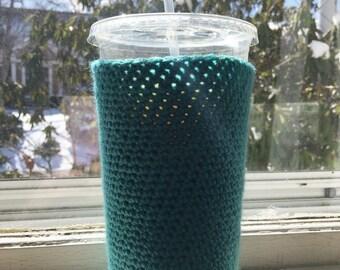 Large Coffee Cozy - Crochet Coffee Sleeve - Coffee Cozy - Java Jacket - Coffee Gift