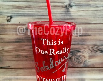 Godmother Gift, Personalized Gift for Godmother, Godparent gift, Godmother Acrylic Cup with Straw, Godmother Tumbler, Godmother Announcement