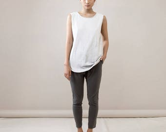 Basic tank top, tank top, Sleevless t-shirt, white cotton shirt, short white shirt, basic white tank, white top, white basic tank top,basic