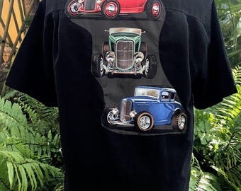 1932 Ford Deuce Coupe Bowling Shirt Ford V8 Deuces Hot Rod Eco Size Medium
