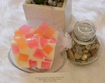 Kindness - Tangerine Orange & Pink Handcrafted Glycerin Soap