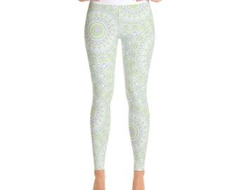 Spring Yoga Pants High Waist - Cute Summer Printed Leggings, Yoga Leggings Womens Pattern Tights