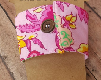 Coffee Cozy Sleeve with Button Closure