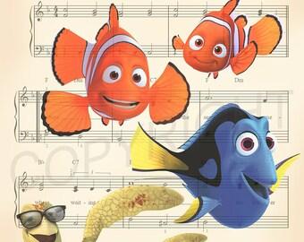 Finding Nemo Music Art Print