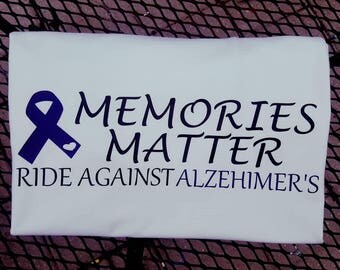 Memories Matter ride against alzehimer's shirt for Riding for Alzheimers benifit June 24th 2017 in Clinton WI