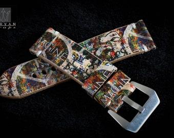 "Strap Panerai. Panerai watch type bracelet. Pop Art ""graffiti"" collection"