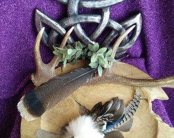 Migrant Soul - feather fan, smudging,shamanism, druid, witch, pagan, duck, mallard, phaesant, lapin, spirit, purification