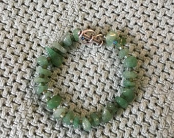 Sage Green Glass Beaded Bracelet