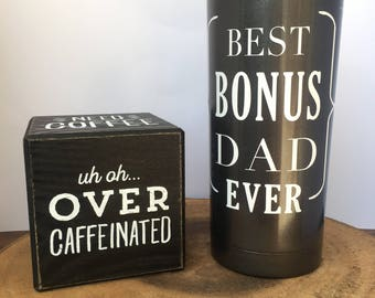 Bonus Dad Tumbler - Step Dad Gift - Custom Fathers Day Gift - Father in Law Gift - Birthday for Dad