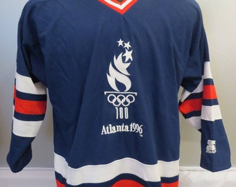 1996 Summer Olympic Games Hockey Jersey - Torch Logo - By Starter - Men's Large