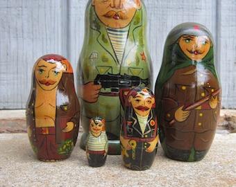 Russian Military Matryoshka Dolls
