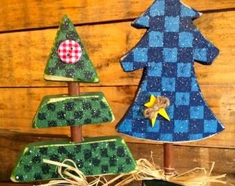 Rustic Whimsy Trees  (Set of Two)