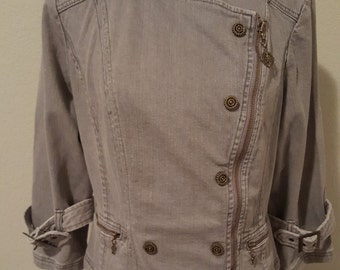 Vintage Light Gray Jean Jacket