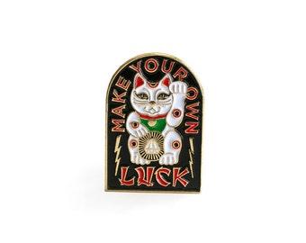 Lucky Cat Enamel Pin