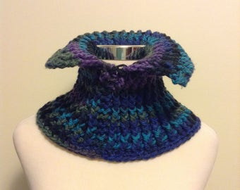 Deep Blue Sea Crocheted Neck Warmer
