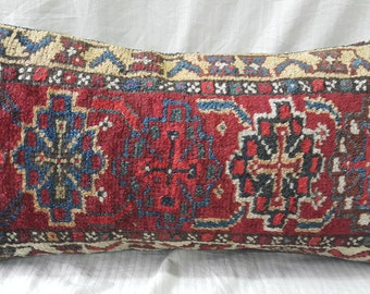 "12""×24""İnches, Lumbar Pillow, Lumbar Kilim Pillow, Cushion Cover, Decorative Pillow, Kilim Pillow, Cushion Cover, Throw Pillow, Tribal Decor"