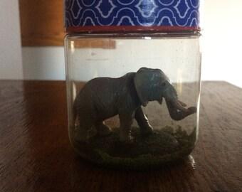 Elephant in plastic jar great Easter Basket item