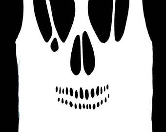 Skull Cutout Tank Top / Pastel Goth Cut Out Shirt