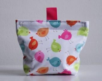 Reusable food bag - bird small format