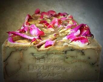Lavender Rose Soap: Rose Lavender Soap, Natural Rose Soap, Natural Lavender Soap, Organic Rose Soap, Organic Goat Soap, Goat Milk Soap