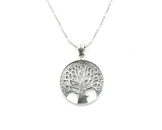 Sterling Silver Tree of Life Necklace, Family Tree, Nature. Yoga Jewelry, Meditation, Spiritual, Boho, Bohemian, Gypsy, Festival, Hippie