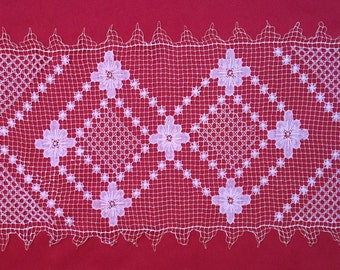 Antique Italian filet crochet