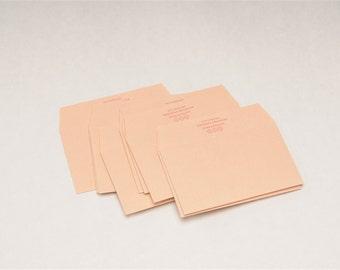 10 Classiky Letterpress Envelope Set - Kapa