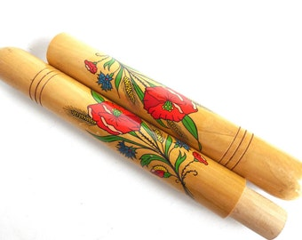 Needle Case Vintage Floral needle case. Folk art souvenir Sewing storage #641G167K14