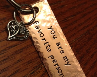 Custom Metal Stamped Keychain - Personalized Keychain - Metal Keychain - Great Gift for Anyone