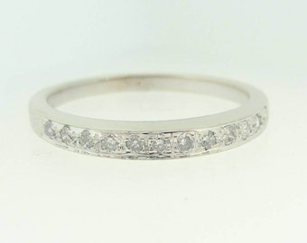 Diamond Wedding Band in 14k White Gold 0.21 ctw