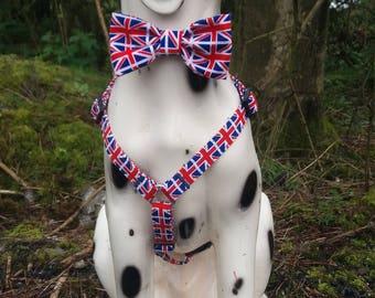 London, Dog Collar, Union Jack Dog Collar, Military Dog, Personalized Collar, Dog Collar, Bow Tie Collar, Dog Bow Tie, Boy Dog Collar