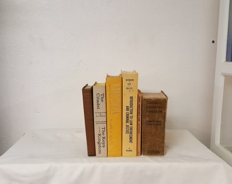 Antique, vintage decorative books, book display, wedding centerpiece, wedding table decor, prop books, instant library, collectible books