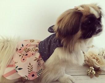 Dog clothes, dog dress, Dog dress, puppy dress, dog clothes, spring dress, Anna
