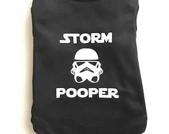 Dog Clothes, Dog Clothing, Dog shirt, Puppy Clothes, Puppy Shirt, comic book inspired, Storm Pooper