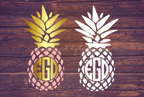 Pineapple Monogram Pineapple Decal Decals Monogram Decal