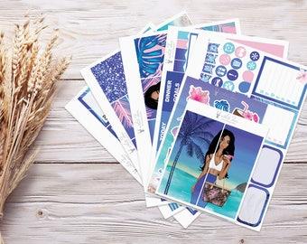 Planner Stickers | Weekly Kit - Island Girl | Erin Condren Vertical