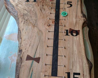 Custom live edge big leaf maple shuffleboard or Bocce scoreboard ***Do Not Order From This Listing!  Convo me to discuss custom details