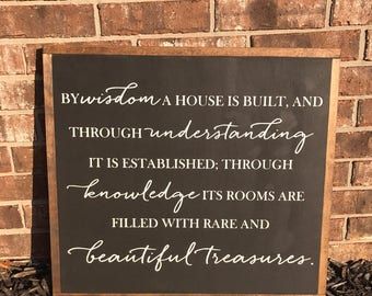 By wisdom a house is built