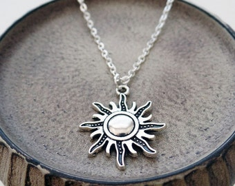 Silver Sunburst Necklace