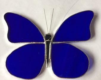 Blue butterfly in Tiffany technique
