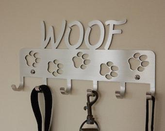 Pet, Leash Holder, Key Holder, Pet Key Hanger, Woof, Dog, Stainless Steel, Modern