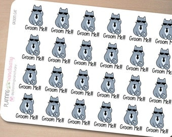 Groom Pet Planner Stickers perferct for Erin Condren, Kikki K, Filofax and all other Planners