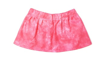 Flare Skirt, Mix and Match, Tie Dye, Pink, White, Summer, Fits dolls such as American Girl, 18 inch Doll Clothes