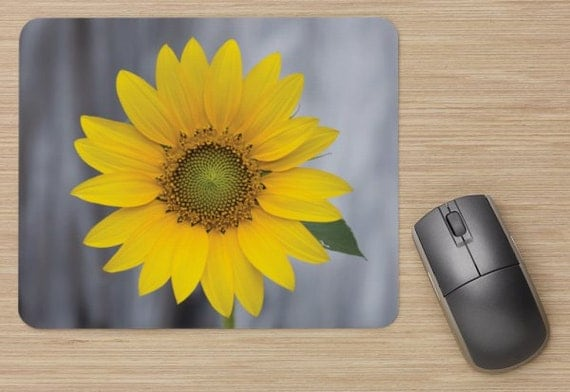 Sunflower Mouse Pad - Flower Mousepads - Yellow Computer Mat - Office Accessories - Office Decor - Desk Accessories - Office Gifts